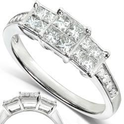 Annello by Kobelli 14k White Gold 1/2ct TDW Diamond Engagement Ring (H-I, I1-I2) - Thumbnail 1