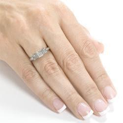 Annello by Kobelli 14k White Gold 1/2ct TDW Diamond Engagement Ring (H-I, I1-I2) - Thumbnail 2
