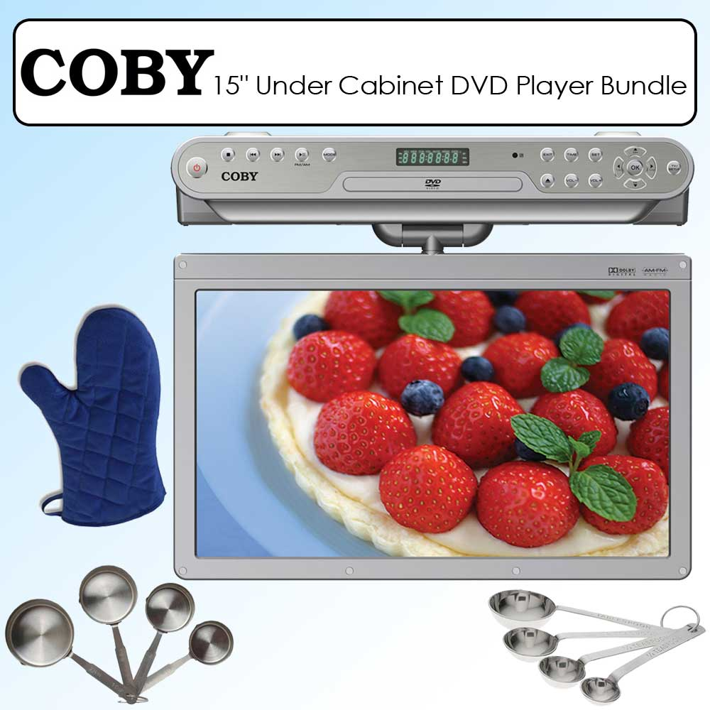 Coby KTFDVD1560 15-inch Widescreen TFT Under-the-cabinet DVD/CD Player  sc 1 st  Overstock.com & Shop Coby KTFDVD1560 15-inch Widescreen TFT Under-the-cabinet DVD/CD ...