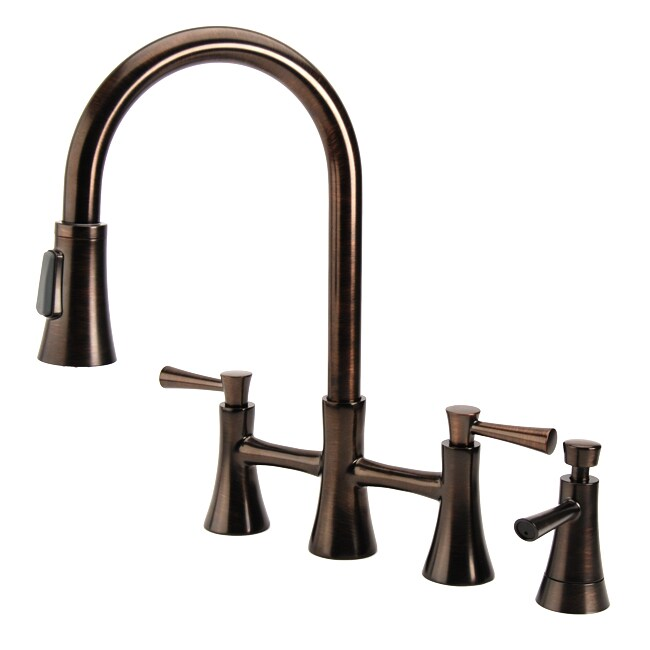 Fontaine Fiore Bridge Brushed Bronze Kitchen Faucet Free