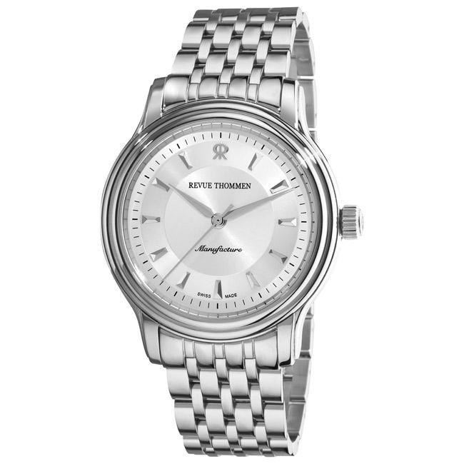 Revue Thommen Men's 'Classic' Silver Face Automatic Watch