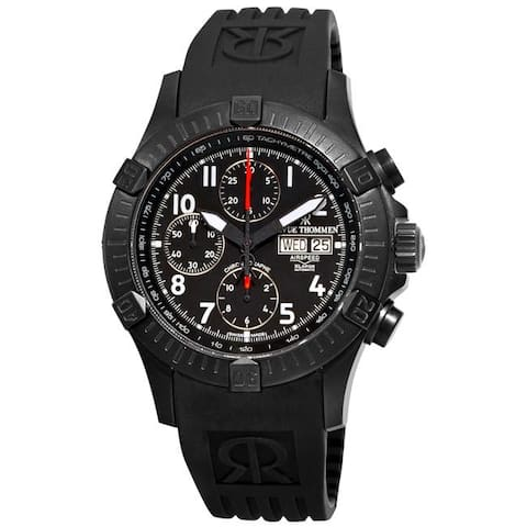 Revue Thommen Men's 'Air Speed' Rubber Strap Chronograph Watch