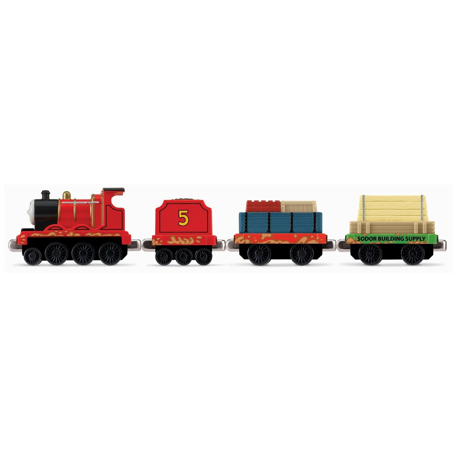 Thomas and Friends Small 'James Muddy Mess' Toy Train Engine