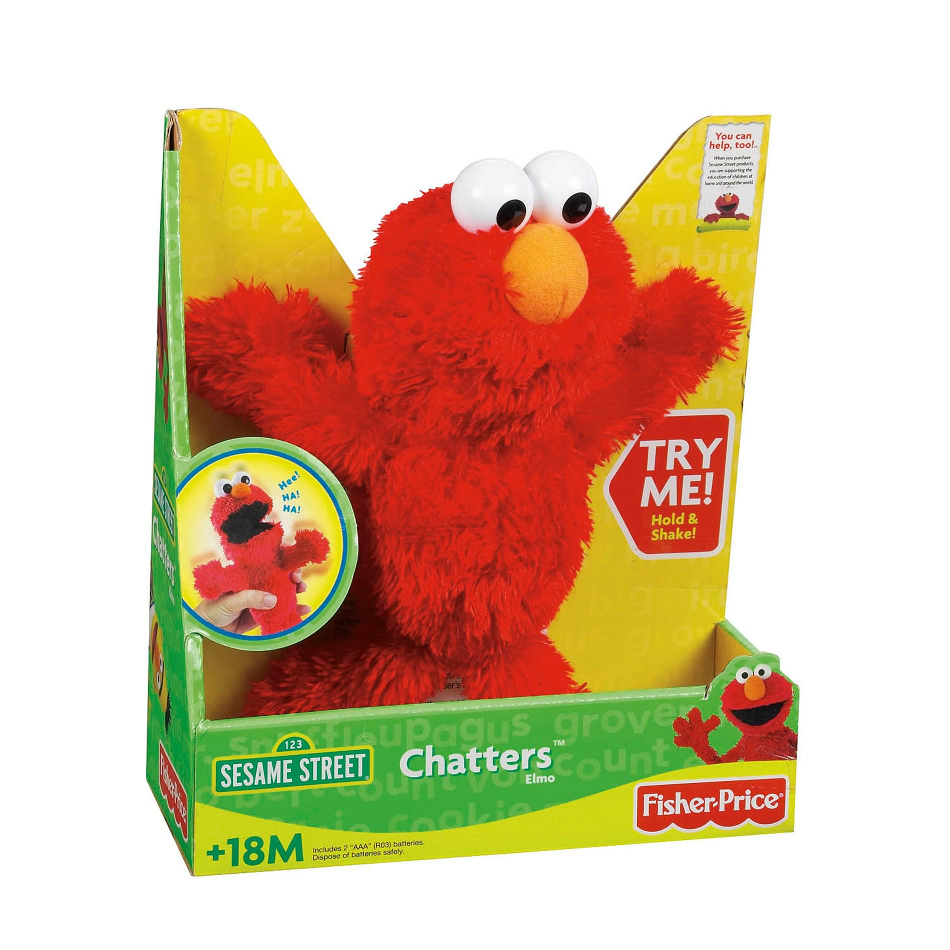 Talking Elmo Toy : Fisher price chatters elmo talking toy free shipping