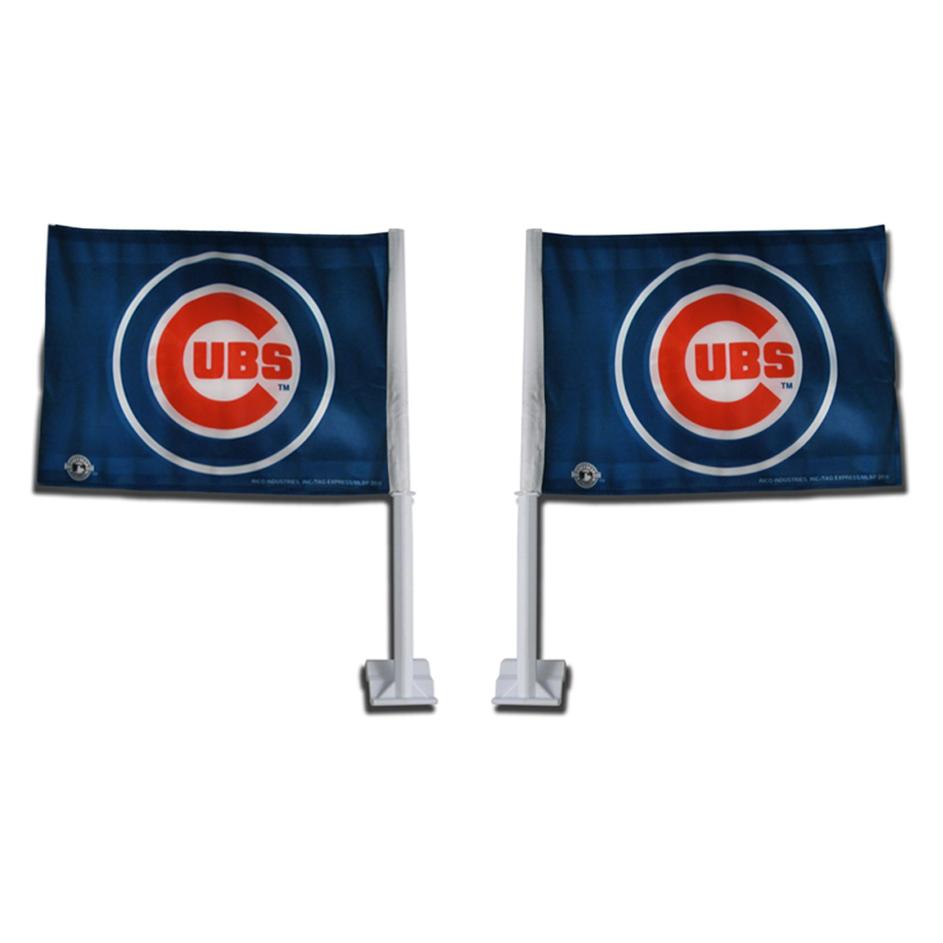 Chicago Cubs Car Flags (Set of 2)