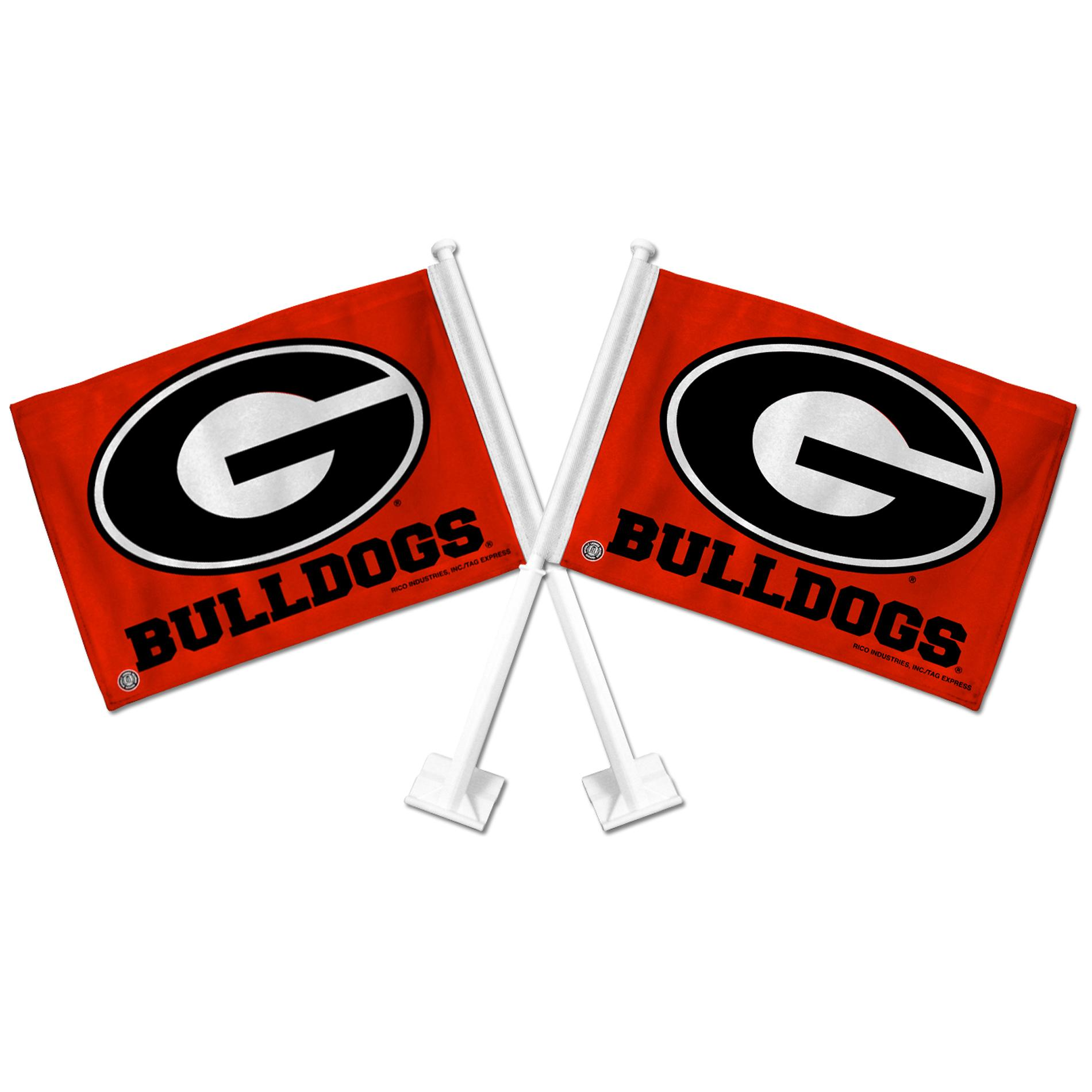 Georgia Bulldogs Car Flags (Set of 2)