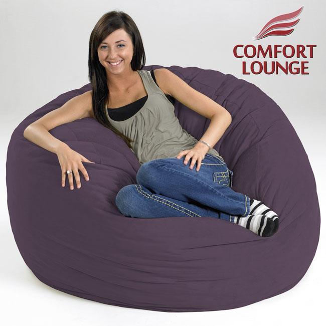 Comfort Lounge Purple Medium-size Memory Foam Lounge Bag