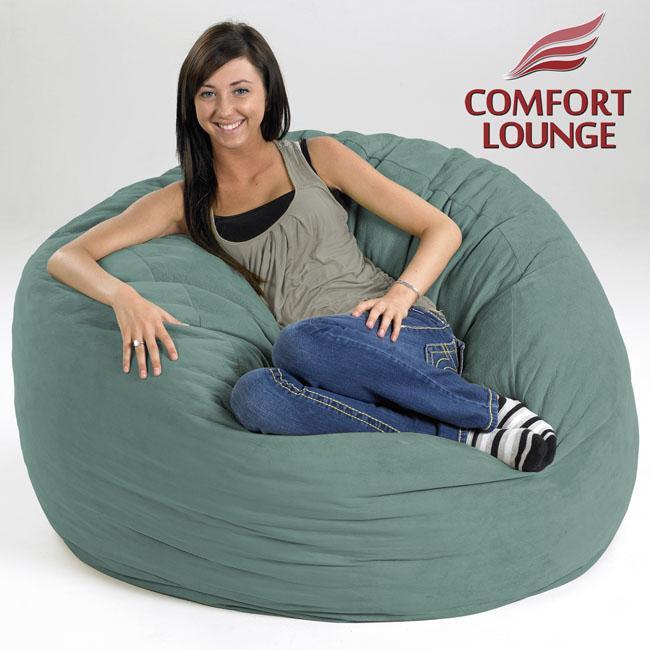 Comfort Lounge Teal Medium-size Memory Foam Lounge Bag