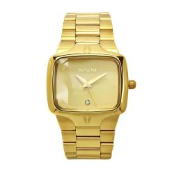 Nixon Men's Player A140509 Gold Stainless-Steel Quartz Watch with Gold Dial
