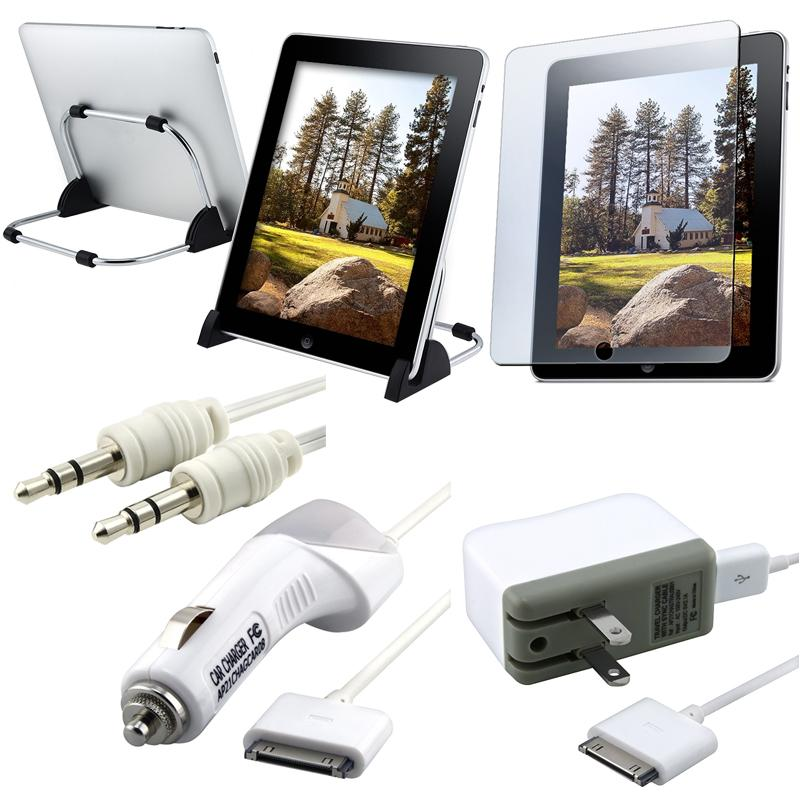 Car/ Travel Charger/ Screen Protector/ Extension Cable/ Stand for iPad