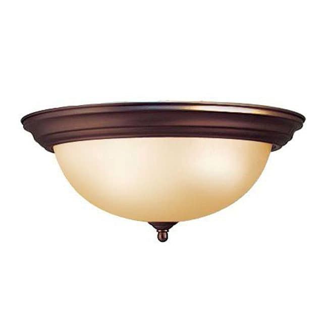 Woodbridge Lighting 1-light Oil Rubbed Bronze Flush Mount Light