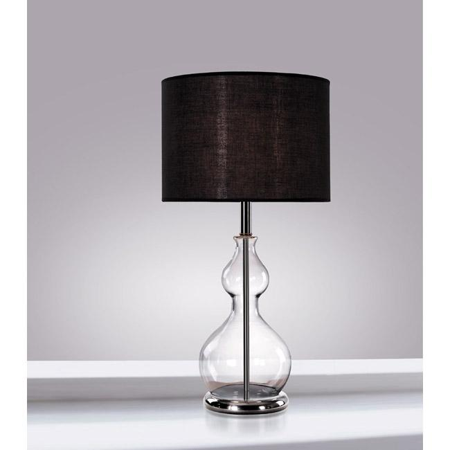 clear glass base table lamp free shipping today 13820335. Black Bedroom Furniture Sets. Home Design Ideas