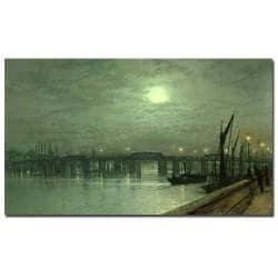 John Grimshaw 'Battersea Bridge by Moonlight' Canvas Art