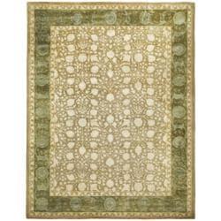 Safavieh Handmade Silk Road Ivory/ Sage New Zealand Wool Rug (9'6 x 13'6)