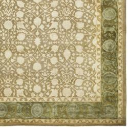 Safavieh Handmade Silk Road Ivory/ Sage New Zealand Wool Rug (7'6 x 9'6) - Thumbnail 2