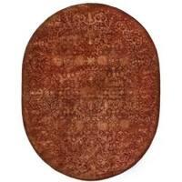 "Safavieh Handmade Silk Road Rust New Zealand Wool Rug - 7'6"" x 9'6"" oval"