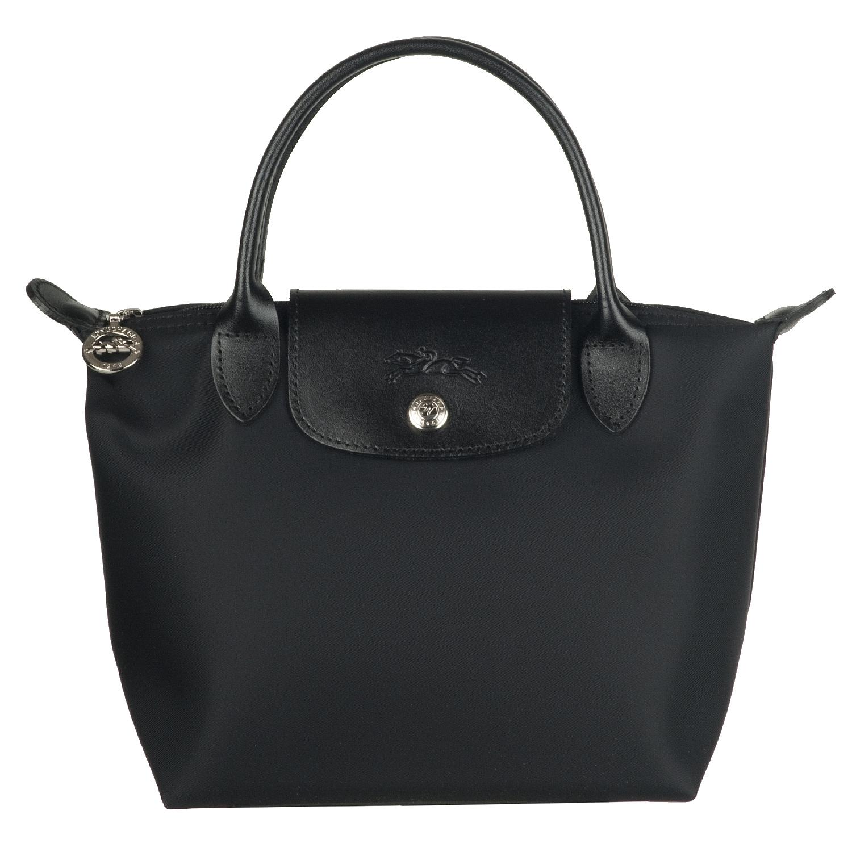Longchamp Mini X27 Planetes Black Nylon Tote Bag