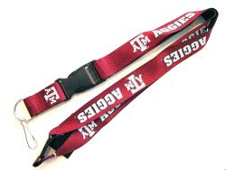 Texas A&M Aggies Reversible Clip Lanyard Keychain ID Ticket Holder - Thumbnail 1