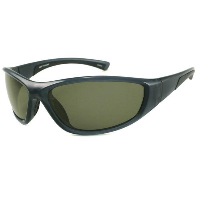 Alta Vision Men's Plastic Polarized Star Board Wrap Sunglasses