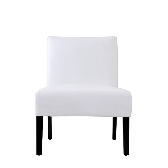 Niles White Microfiber Armless Chair