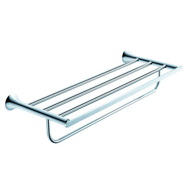 Kraus Amnis Bathroom Accessories Bath Towel Rack with Towel Bar