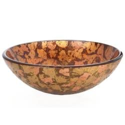 Kraus Golden Sunset Glass Vessel Sink