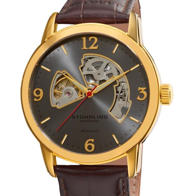 Stuhrling Orginal Men's Delphi Huntsman Skeleton Automatic Watch