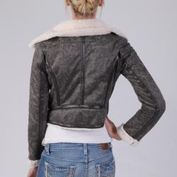 Ci Sono by Journee Juniors Wool Lined Faux Leather Jacket - Thumbnail 1