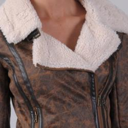 Ci Sono by Journee Juniors Wool Lined Faux Leather Jacket - Thumbnail 2