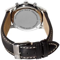 Frederique Constant Men's 'Junior Chronograph' Leather Strap Watch - Thumbnail 1