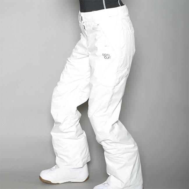 Rip Curl Women's 'Into The Groove' White Snow Pants