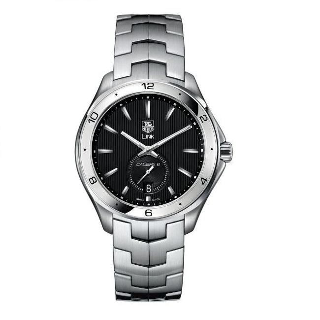 0c090c39ed3 Shop Tag Heuer Men's 'Link' Black Dial Stainless Steel Automatic Watch - Free  Shipping Today - Overstock - 6175259