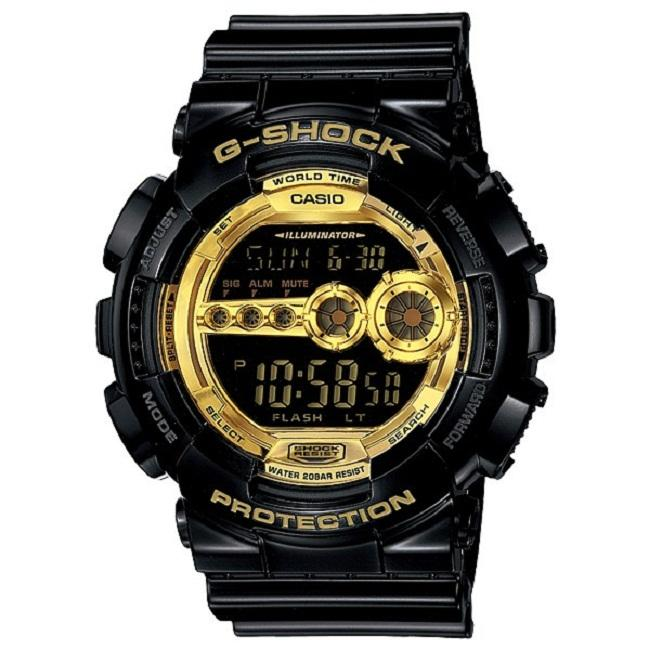 Shop Casio Men s  G-Shock  Black Gold Stainless Steel Watch - Free Shipping  Today - Overstock - 6175275 e27ced619535