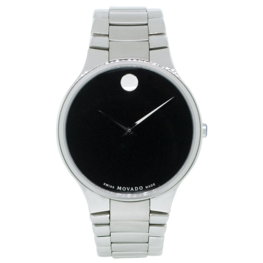 Movado Men's Serio Watch, Black, Size One Size Fits All (...