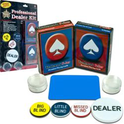 Full-size 83-inch Folding Poker Table with Dealer Kit
