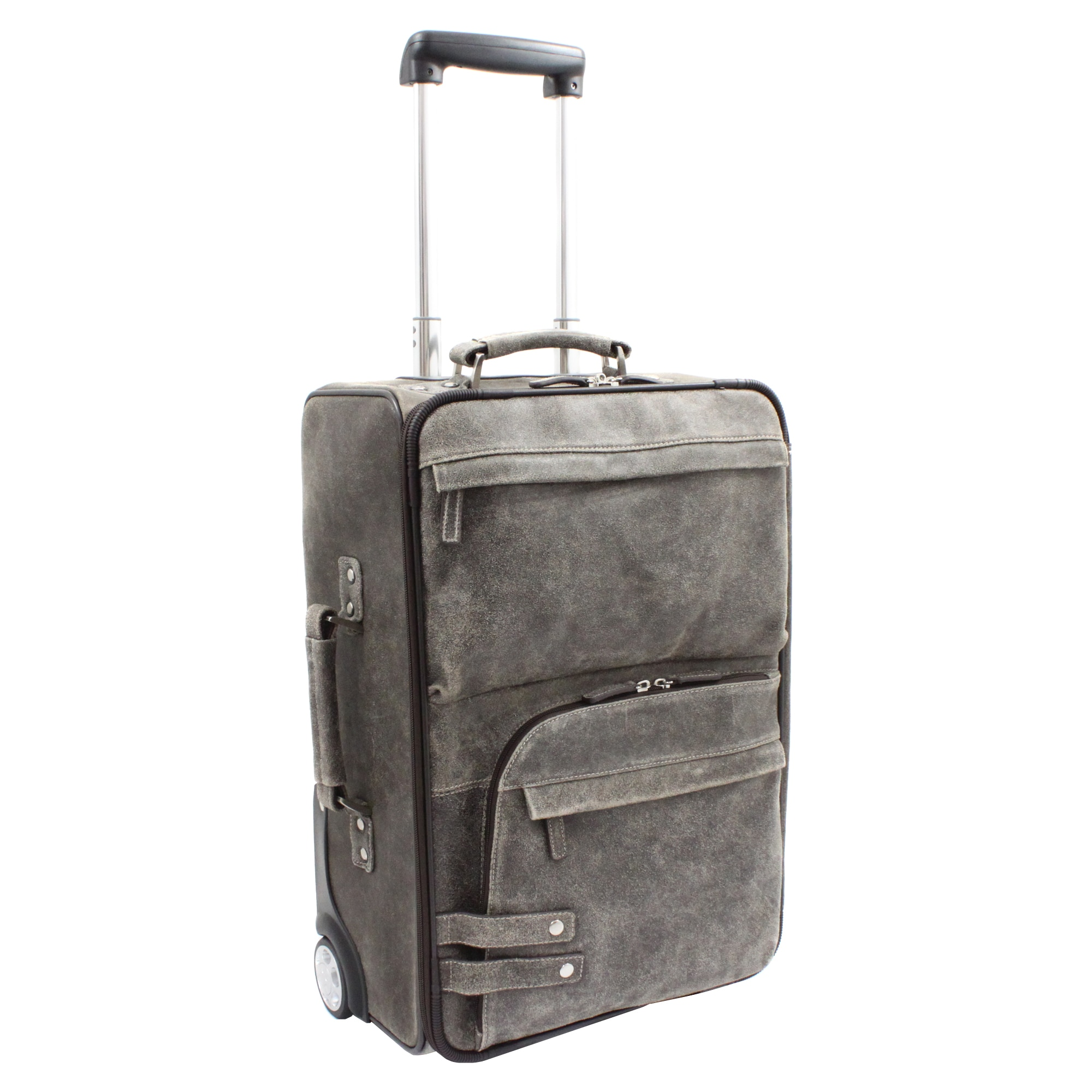 The Jones Collection Distressed Leather 21-inch Carry-on Upright