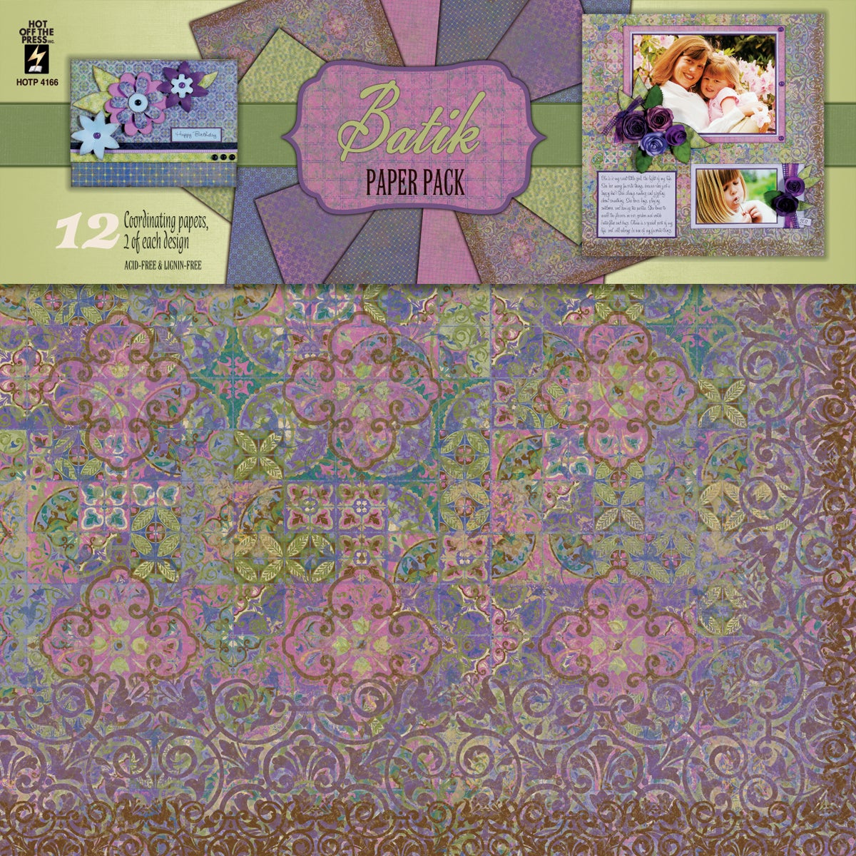 Hot off the Press Batik Paper Pack (Pack of 12)