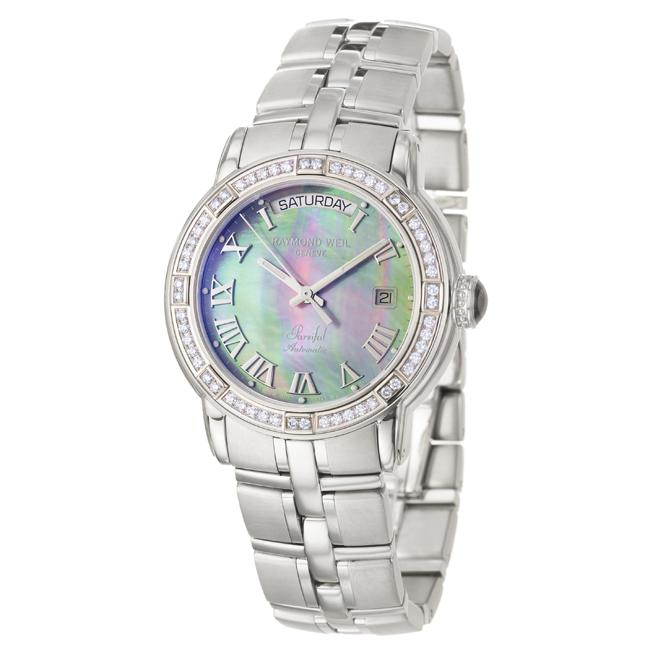 Raymond Weil Men's 'Parsifal' Stainless Steel Diamonds Automatic Watch