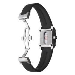 Baume & Mercier Men's 'Hampton' Stainless Steel, Titanium and Black Rubber Automatic Watch