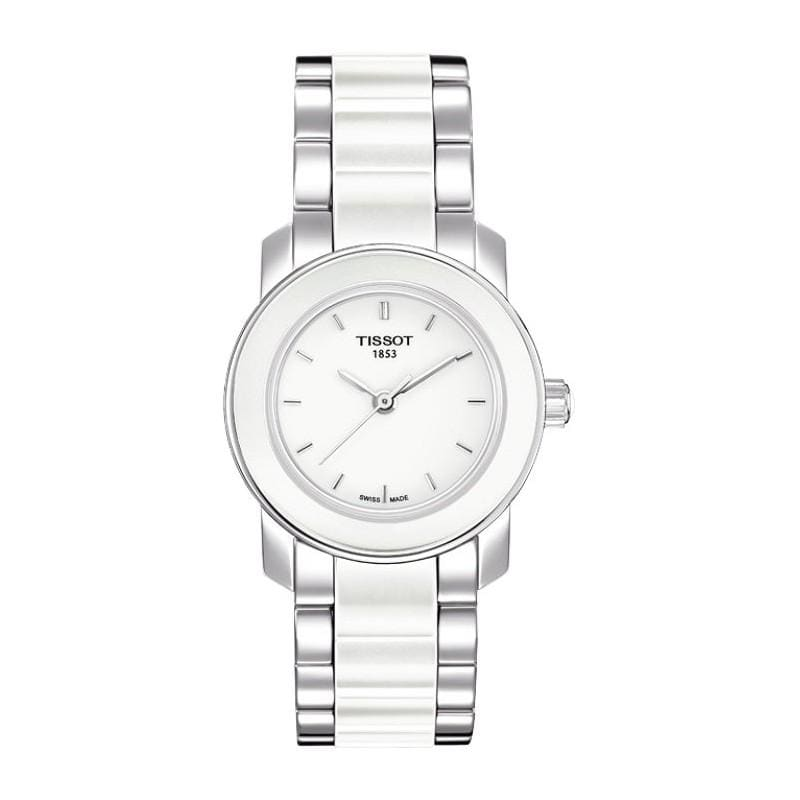 Tissot Women's 'Cera' Stainless Steel Ceramic Watch