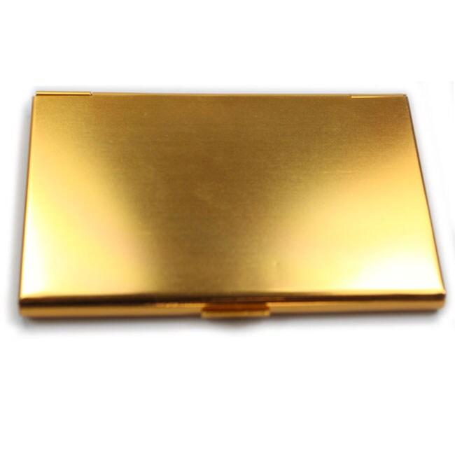 Aluminum Gold Business Credit Card Case Holder Free