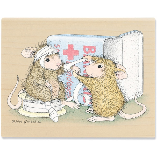 House Mouse 'Dr. Amanda' Mounted Rubber Stamp
