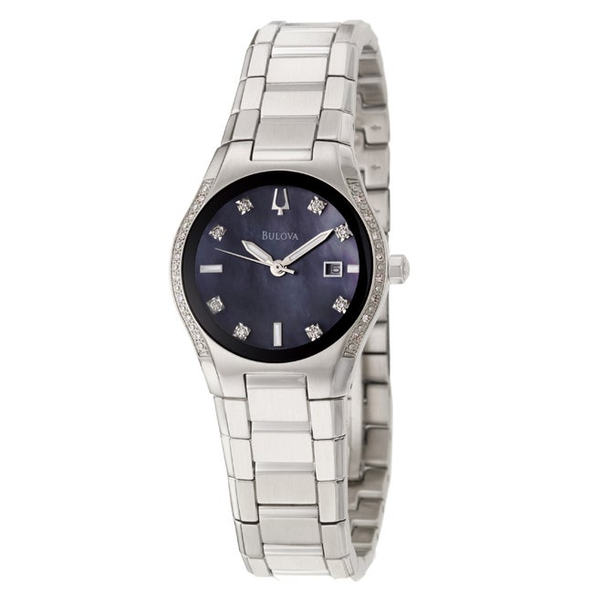 Bulova Women's 'Diamonds' Stainless Steel Quartz Watch