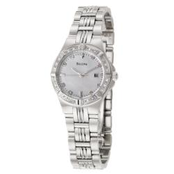 Bulova Women's 'Diamonds' Stainless Steel Quartz Watch