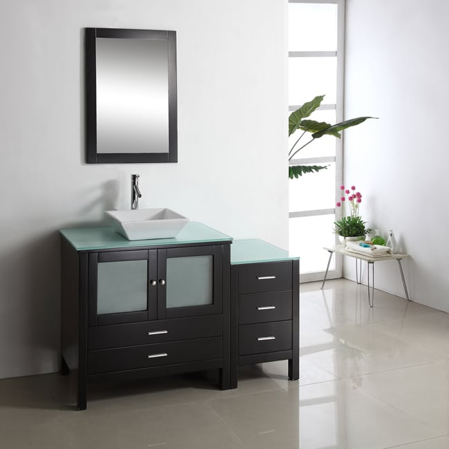 Shop Hilford 54 Inch Single Sink Bathroom Vanity Set Free Shipping
