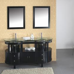 Shop Cadence 63 Inch Double Sink Bathroom Vanity Set Free Shipping Today 6180428