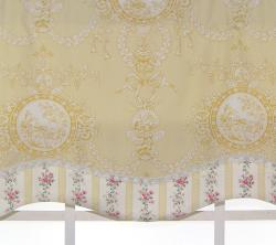RLF Home Cameo Toile Glory Yellow Valance