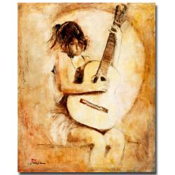 Joarez 'Soft Guitar' Medium Canvas Art