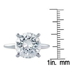 14k White Gold 2ct TDW Clarity Enhanced Diamond Solitaire Ring (G-H, SI2-SI3) - Thumbnail 1
