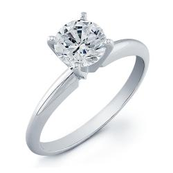 14k White Gold 2ct TDW Clarity Enhanced Diamond Solitaire Ring (G-H, SI2-SI3) - Thumbnail 2